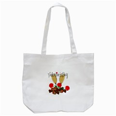 Valentine s Day Romantic Design Tote Bag (white) by Valentinaart
