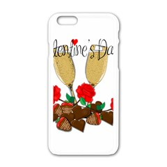 Valentine s Day Romantic Design Apple Iphone 6/6s White Enamel Case by Valentinaart