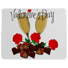 Valentine s Day Romantic Design Jigsaw Puzzle Photo Stand (rectangular) by Valentinaart
