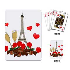 Romance In Paris Playing Card by Valentinaart
