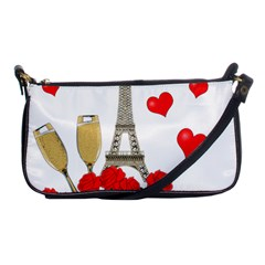 Romance In Paris Shoulder Clutch Bags by Valentinaart