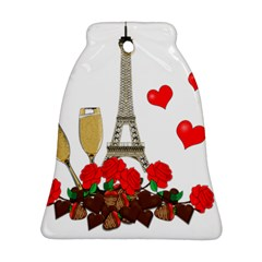 Romance In Paris Bell Ornament (two Sides) by Valentinaart