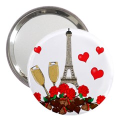 Romance In Paris 3  Handbag Mirrors by Valentinaart