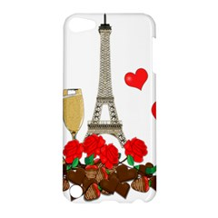 Romance In Paris Apple Ipod Touch 5 Hardshell Case by Valentinaart