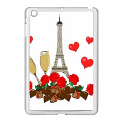 Romance In Paris Apple Ipad Mini Case (white) by Valentinaart
