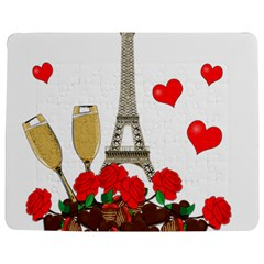 Romance In Paris Jigsaw Puzzle Photo Stand (rectangular) by Valentinaart