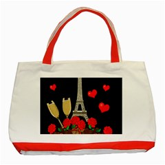 Pariz Classic Tote Bag (red) by Valentinaart