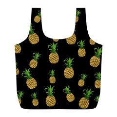 Pineapples Full Print Recycle Bags (l)  by Valentinaart