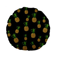 Pineapples Standard 15  Premium Flano Round Cushions by Valentinaart