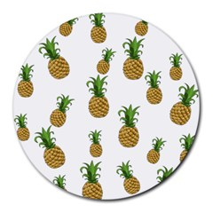 Pineapples Pattern Round Mousepads by Valentinaart