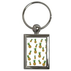 Pineapples Pattern Key Chains (rectangle)  by Valentinaart
