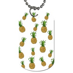Pineapples Pattern Dog Tag (one Side) by Valentinaart