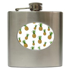 Pineapples Pattern Hip Flask (6 Oz) by Valentinaart