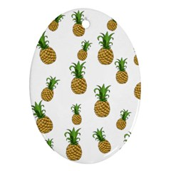 Pineapples Pattern Oval Ornament (two Sides) by Valentinaart