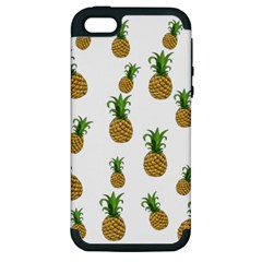 Pineapples Pattern Apple Iphone 5 Hardshell Case (pc+silicone) by Valentinaart