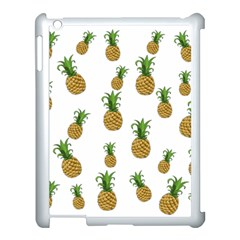 Pineapples Pattern Apple Ipad 3/4 Case (white) by Valentinaart