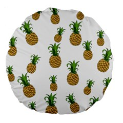 Pineapples Pattern Large 18  Premium Round Cushions by Valentinaart