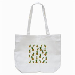 Pineapples Pattern Tote Bag (white) by Valentinaart
