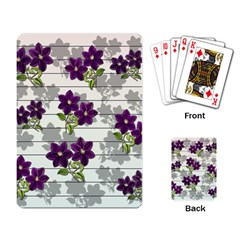 Purple Vintage Flowers Playing Card by Valentinaart