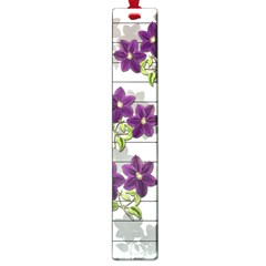 Purple Vintage Flowers Large Book Marks by Valentinaart