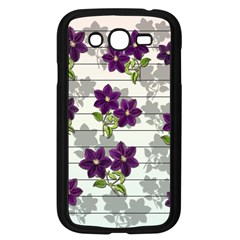 Purple Vintage Flowers Samsung Galaxy Grand Duos I9082 Case (black) by Valentinaart