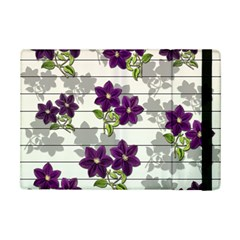 Purple Vintage Flowers Ipad Mini 2 Flip Cases by Valentinaart