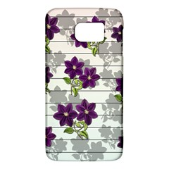 Purple Vintage Flowers Galaxy S6 by Valentinaart
