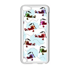 Airplanes Pattern Apple Ipod Touch 5 Case (white) by Valentinaart