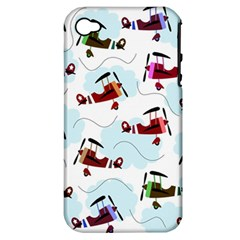 Airplanes Pattern Apple Iphone 4/4s Hardshell Case (pc+silicone) by Valentinaart