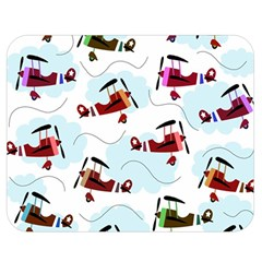 Airplanes Pattern Double Sided Flano Blanket (medium)