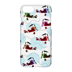 Airplanes Pattern Apple Iphone 7 Hardshell Case by Valentinaart