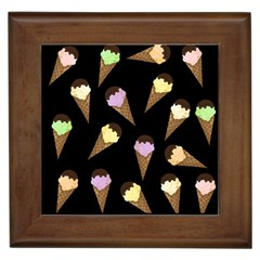 Ice Cream Cute Pattern Framed Tiles by Valentinaart