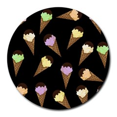 Ice Cream Cute Pattern Round Mousepads by Valentinaart