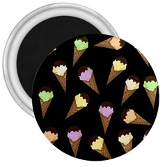Ice Cream Cute Pattern 3  Magnets by Valentinaart