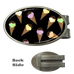 Ice Cream Cute Pattern Money Clips (oval)  by Valentinaart