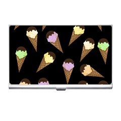 Ice Cream Cute Pattern Business Card Holders by Valentinaart