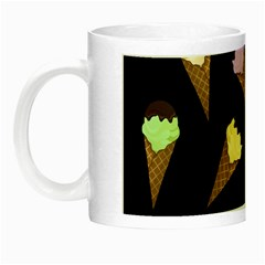 Ice Cream Cute Pattern Night Luminous Mugs by Valentinaart