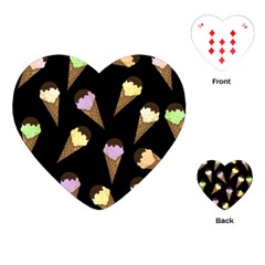 Ice Cream Cute Pattern Playing Cards (heart)