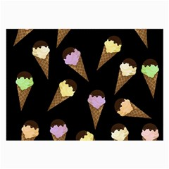 Ice Cream Cute Pattern Large Glasses Cloth by Valentinaart