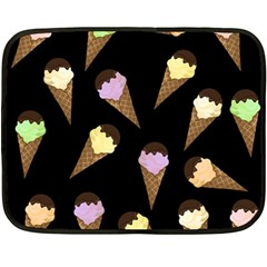 Ice Cream Cute Pattern Double Sided Fleece Blanket (mini)  by Valentinaart