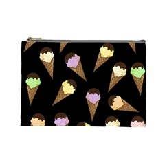 Ice Cream Cute Pattern Cosmetic Bag (large)  by Valentinaart