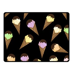 Ice Cream Cute Pattern Fleece Blanket (small) by Valentinaart