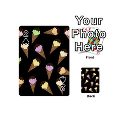Ice Cream Cute Pattern Playing Cards 54 (mini)  by Valentinaart