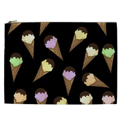 Ice Cream Cute Pattern Cosmetic Bag (xxl)  by Valentinaart
