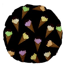 Ice Cream Cute Pattern Large 18  Premium Round Cushions by Valentinaart
