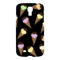 Ice Cream Cute Pattern Samsung Galaxy S4 I9500/i9505 Hardshell Case by Valentinaart