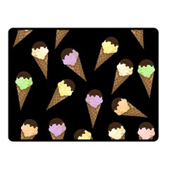 Ice Cream Cute Pattern Double Sided Fleece Blanket (small)  by Valentinaart