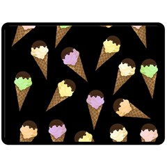 Ice Cream Cute Pattern Double Sided Fleece Blanket (large)  by Valentinaart