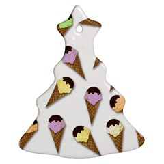 Ice Cream Pattern Christmas Tree Ornament (two Sides) by Valentinaart