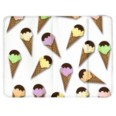 Ice Cream Pattern Samsung Galaxy Tab 7  P1000 Flip Case by Valentinaart